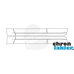 Nissan Pathfinder III folie ochronne / folia ochronna na progi i drzwi (2005-2016)