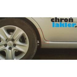Opel Zafira B folie ochronne na błotnik tył