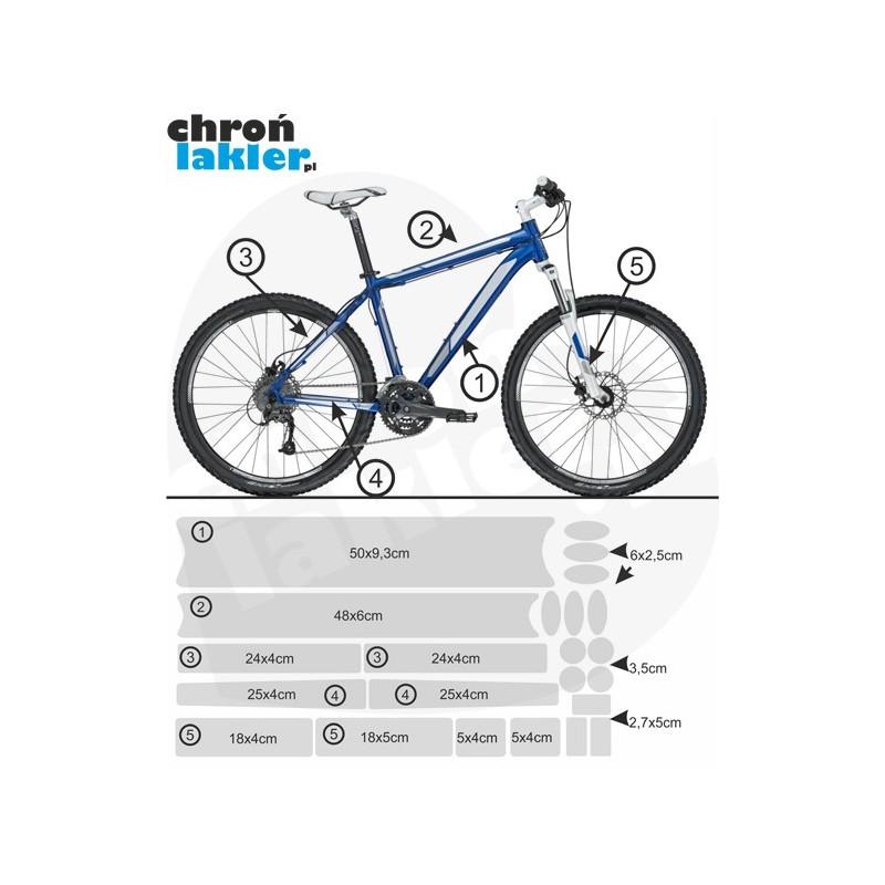 naklejka / folia ochronna na rower 3M zestaw big