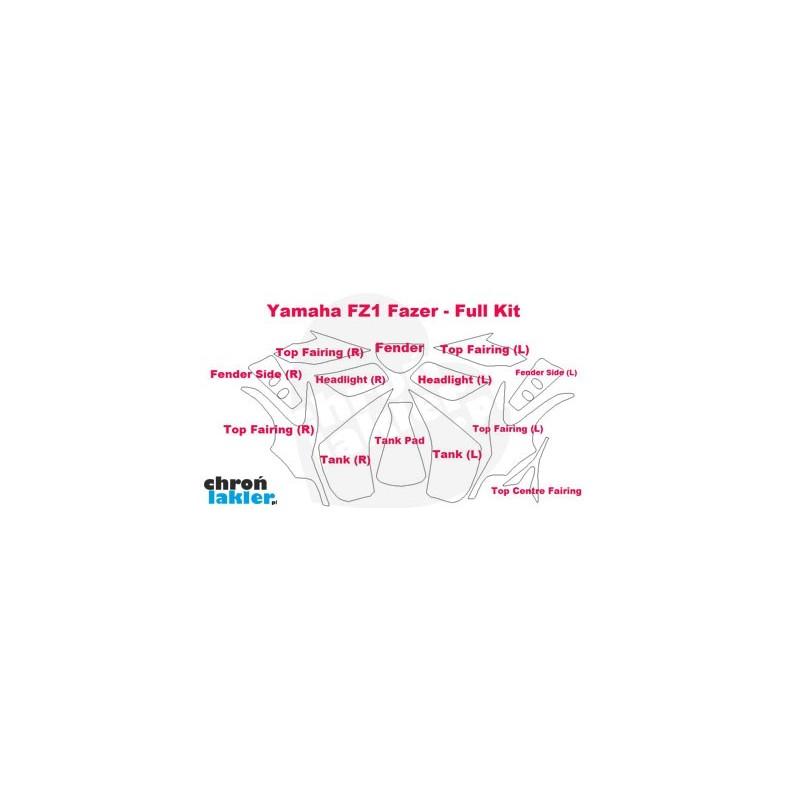 Yamaha FZ1 Fazer - zestaw folii / naklejek ochronnych