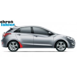 Hyundai i30 II naklejki / folie ochronne błotnik tył (2011-)