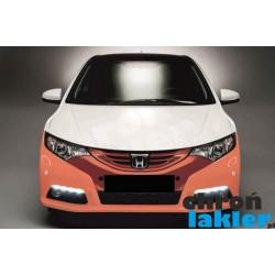 Honda Civic IX 9 zderzak przód folia ochronna 3M VentureShield (clear bra)