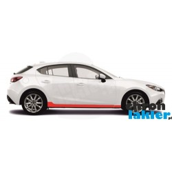 Mazda 3 folie ochronne / folia ochronna na progi (2013-)
