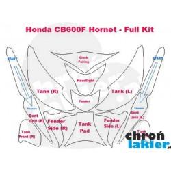 Honda Hornet CB600F naklejki  / folie ochronne - zestaw (bak, owiewka, przedni reflektor / lampa, błotnik)