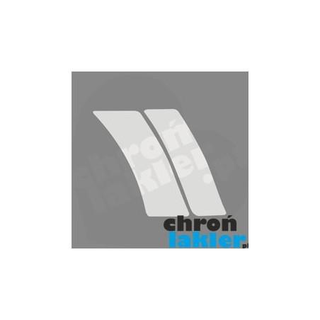 Mercedes C-klasa w203 naklejka / folia ochronna błotnik i drzwi tył