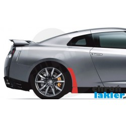 Nissan GT-R GTR naklejki / folie ochronne błotnik tył