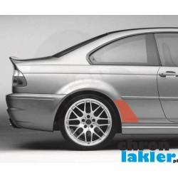 BMW 3 / M3 E46 COUPE / CABRIO folie ochronne błotnik tył (1999-2007)