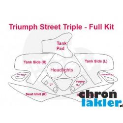 Triumph Street Triple - naklejki  / folie ochronne - zestaw