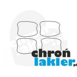 Chevrolet Trax II 2 dedykowane naklejki / folie ochronne pod klamki (2017-)