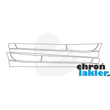 SUBARU IMPREZA V folie ochronne / folia ochronna na progi i drzwi (2017-)
