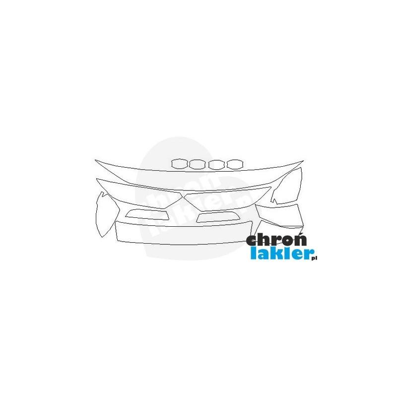 VW Passat B8 SEDAN folia ochronna ZESTAW maska, błotnik, zderzak, reflektory (2014-)