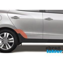 Hyundai Tucson II IX35 naklejka / folia ochronna błotnik i drzwi tył (2010-2015)