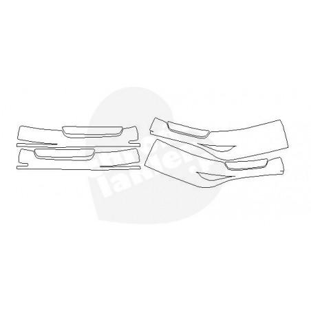 Mercedes GT AMG 4D folie ochronne / folia ochronna na progi wewnętrzne