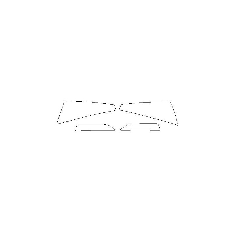 Skoda Rapid II mk2 folie ochronne na reflektory / lampy / światła przednie (2020-)