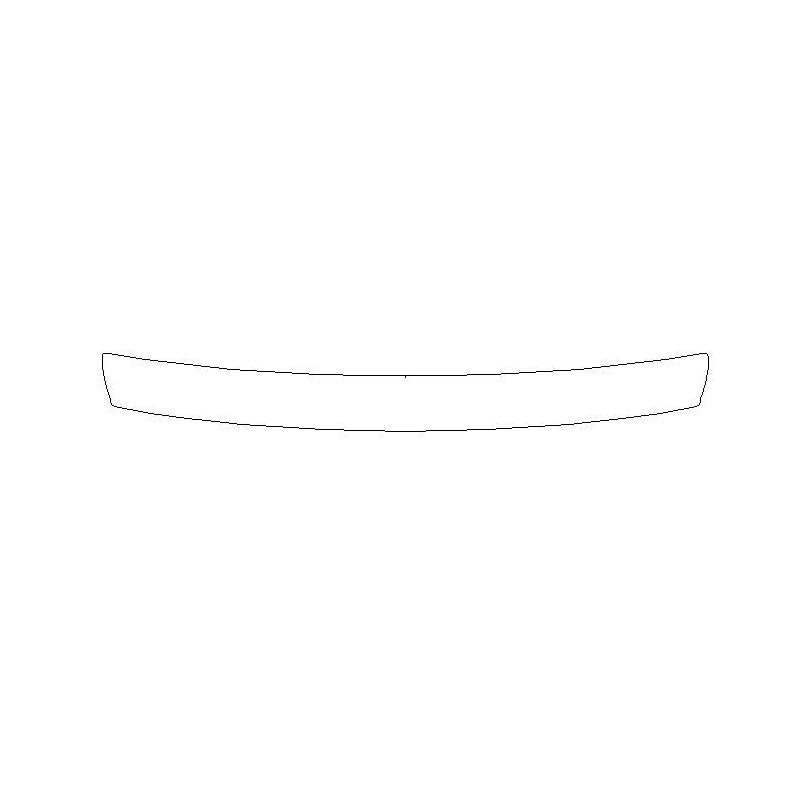 Mercedes GLS II X167 naklejka / folia ochronna zderzak tył (2019-)