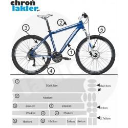 naklejka / folia ochronna na rower / ramę kolor MATOWY duży zestaw