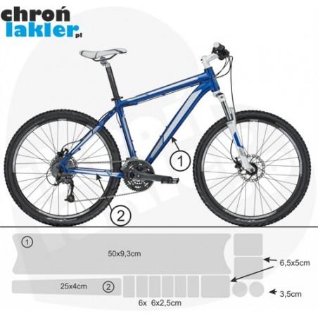 naklejka / folia ochronna na rower / ramę 3M mały zestaw
