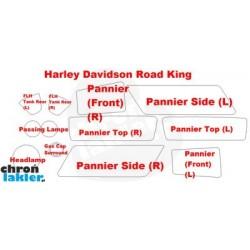 Harley Davidson Road King - folie / naklejki ochronne - zestaw