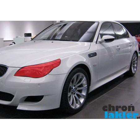 BMW 5 M5 E60 E61 reflektory / światła przednie naklejki / folie ochronne