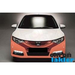 Honda Civic IX 9 zderzak przód folia ochronna 3M VentureShield (clear bra) (2011-2013)