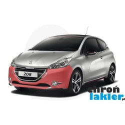 Peugeot 208 2012 zderzak przód folia ochronna 3M VentureShield (clear bra)