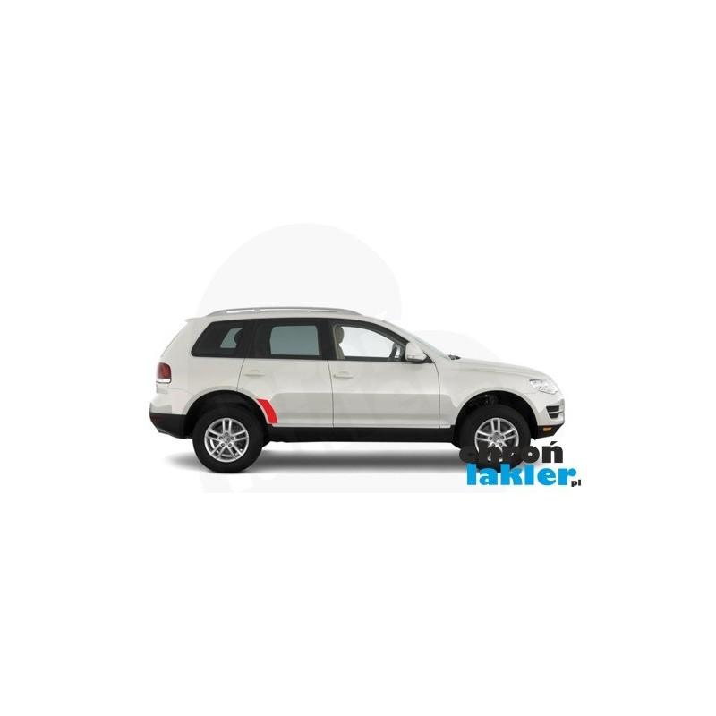 VW Touareg naklejki / folie ochronne błotnik tył
