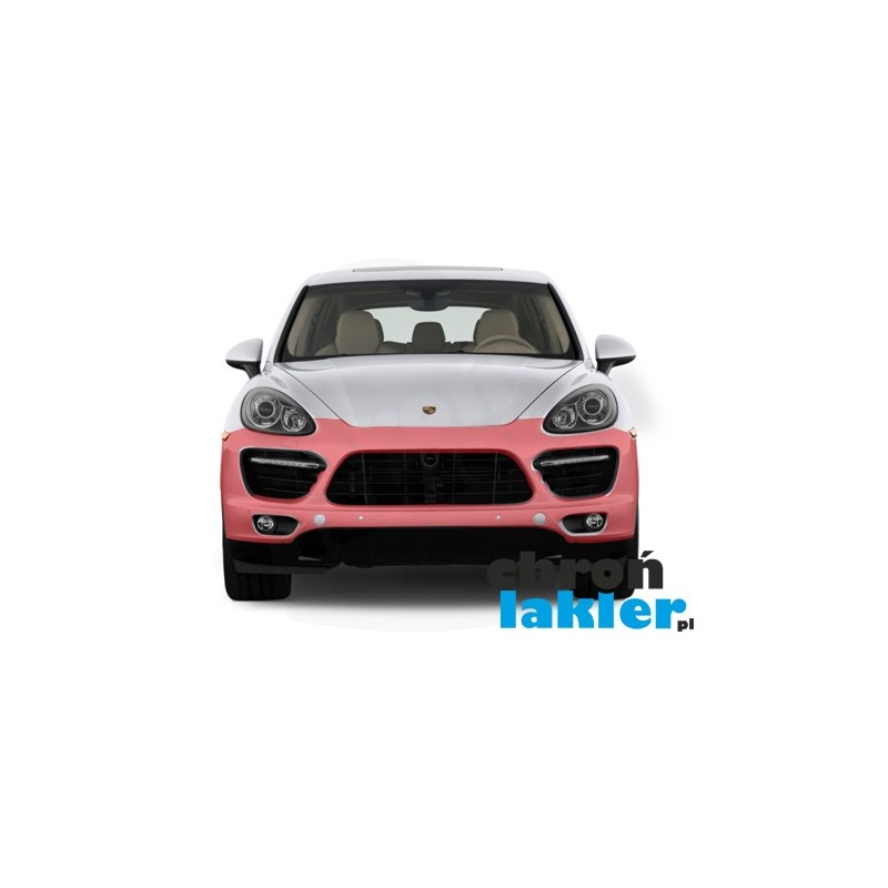 Porsche Cayenne S / DIESEL / HYBRID / TURBO / GTS zderzak przód folia ochronna 3M VentureShield (clear bra)