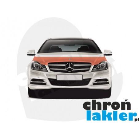 Mercedes C-klasa (C-class) W204 FL SE/ELEGANCE/AVANTGARDE/SPORT/C63 AMG folia ochronna na maskę (Clear BRA) 3M VentureShield