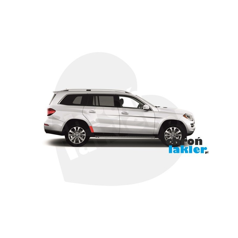 Mercedes GL - class X164 X166 naklejka / folia ochronna na błotnik/nadkole tył