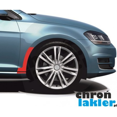 VW GOLF VII (7) naklejki / folie ochronne pod chlapacze przód tył błotnik (2012-2016)