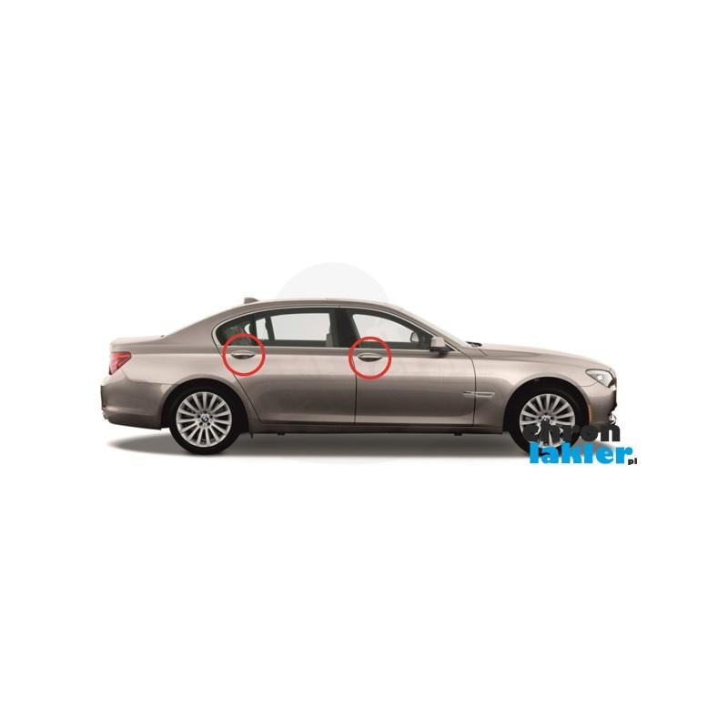 BMW 7 F01/F02 dedykowane naklejki / folie ochronne pod klamki