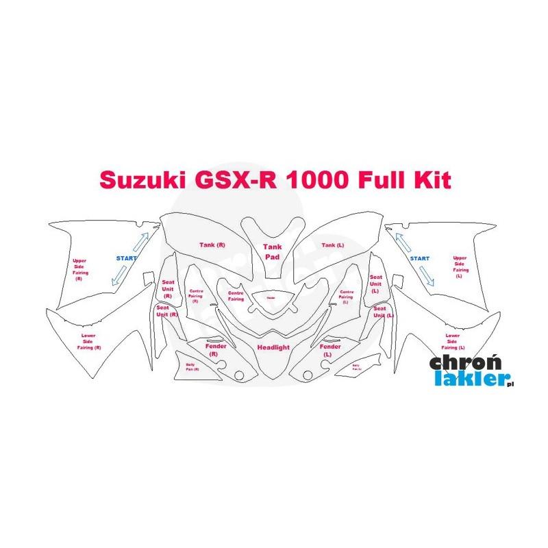 Suzuki GSX-R 1000 - folie / naklejki ochronne - zestaw (2012-)