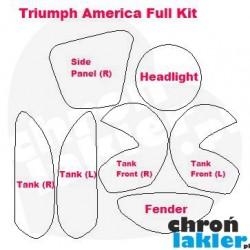 Triumph America - naklejki  / folie ochronne - zestaw (2007-)