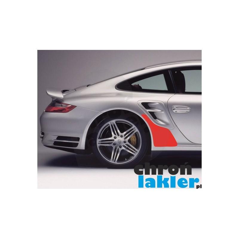 Porsche 911 / 997 Turbo naklejka / folia ochronne błotnik tył