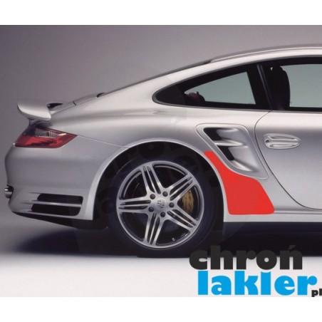 Porsche 911 / 997 Turbo naklejka / folia ochronna błotnik tył