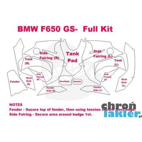 BMW F650 GS  - naklejki  / folie ochronne - zestaw (2009-)