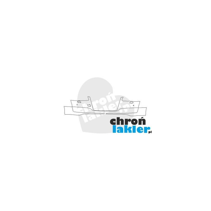 AUDI A8 D4 po FL zderzak przód folia ochronna (2013-)