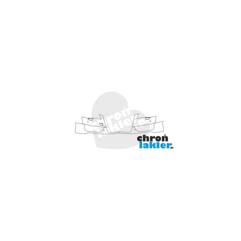 AUDI S8 D4 przed FL zderzak przód folia ochronna (2010-2013)
