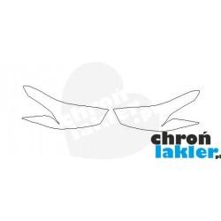Chevrolet Spark reflektory / światła przednie naklejki / folie ochronne